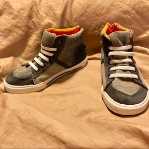 3/$10 C & J High top sneakers orange and grey 11
